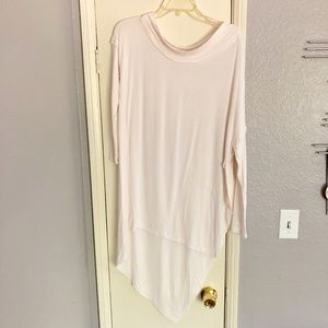 Free People asymmetrical off shoulder tunic top S